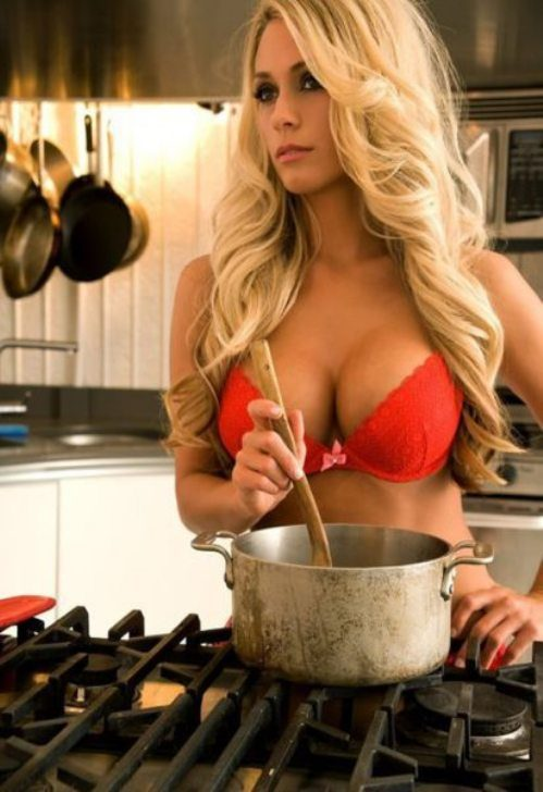 sexy blondes are enjoying lesbian fun in the kitchen  52497