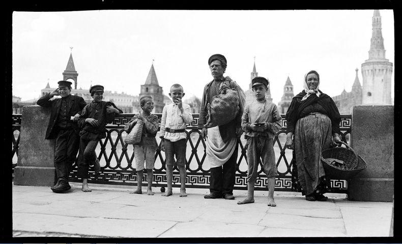 Старинноё фото. Люди. Москва.