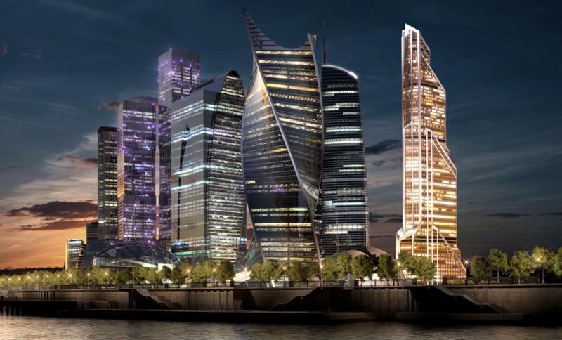 """Башня """"Меркурий-Сити"""" - самое высокое здание Европы."""