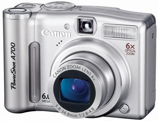 Фотоаппарат Canon A700 – достойный представитель серии A
