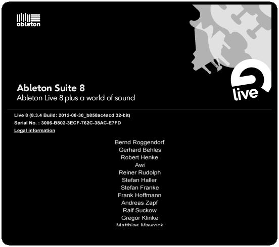 Скачать Ableton Live 8.3 for Mac OS 2012, English + crack. Одним