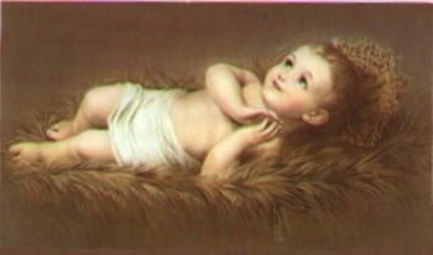 """Схема вышивки  """"Младенец """": таблица цветов."""