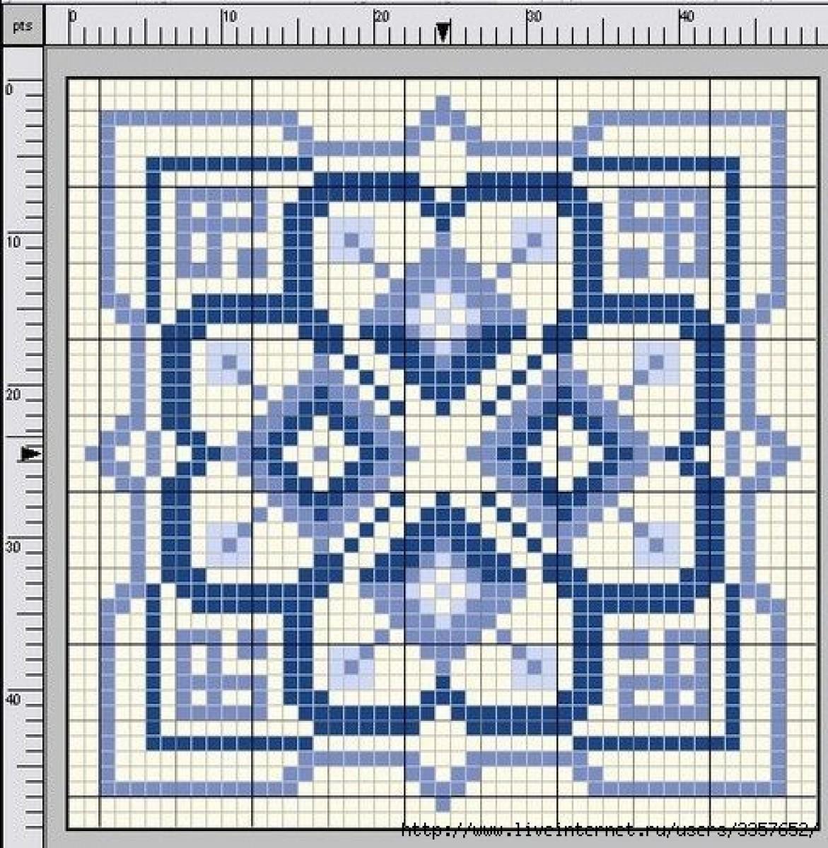 Квадратная схема крестиком