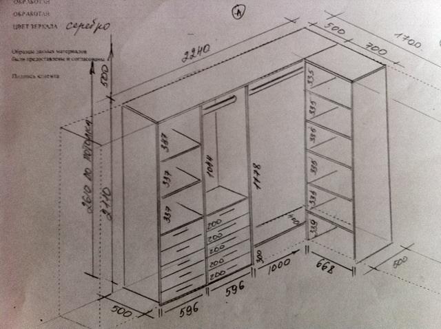 Гардеробная своими руками чертежи и схемы 3 кв.м