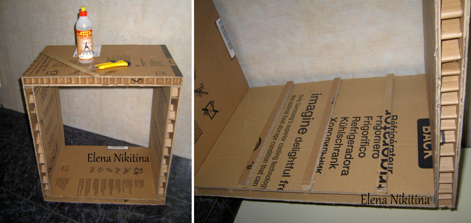 Делаем камин из коробки от телевизора своими руками: пошаговая инструкция 37