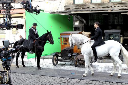 фото со съёмочной площадки «Зимней сказки» Хелприна