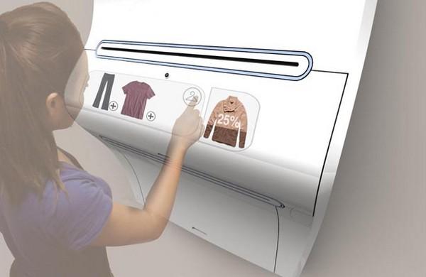 концепт принтера для печати одежды