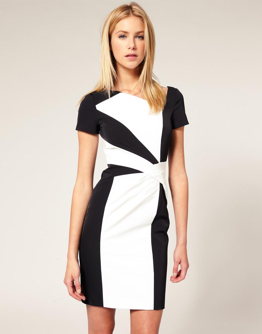 Платье Черное С Белым