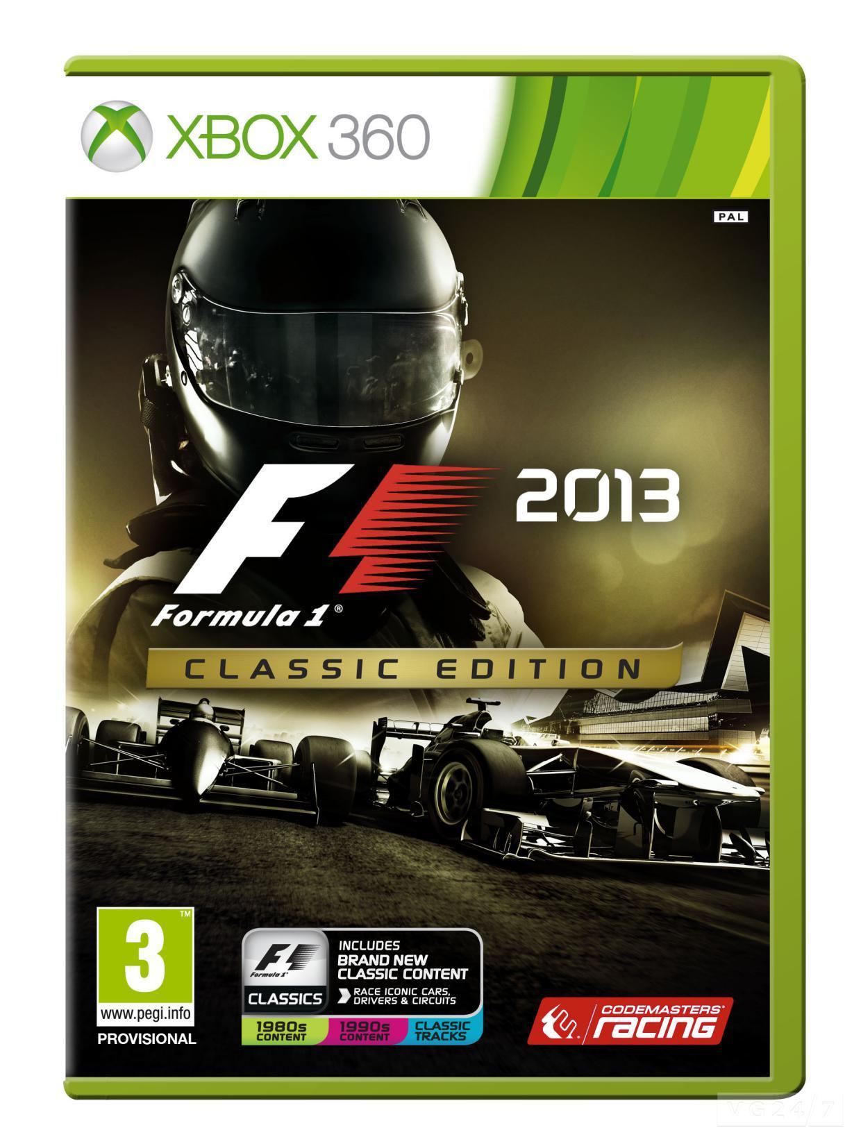 Анонсирован F1 2013: Classic Edition | сервис Онлайн игры анонс Xbox 360