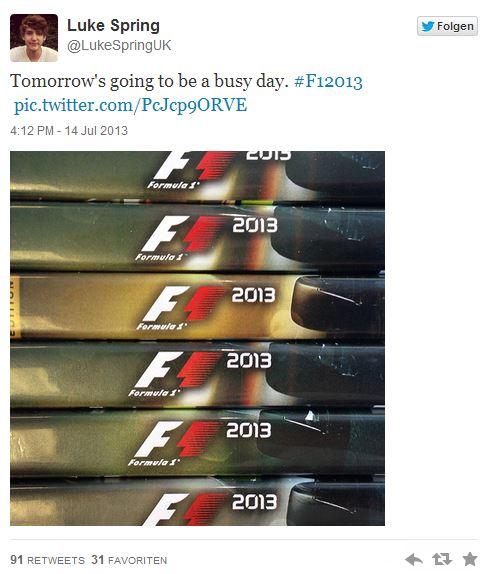 Завтра появиться первая информация о F1 2013 | игры