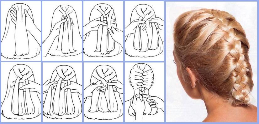 Легкое плетение колоском